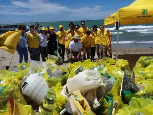 Fiumicino, pulizia della Spiaggia di Coccia di Morto: raccolti 70 sacchi di rifiuti