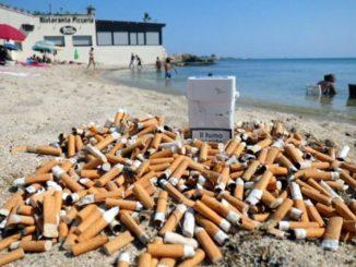 Filtri della sigaretta, un male incurabile sulle nostre spiagge